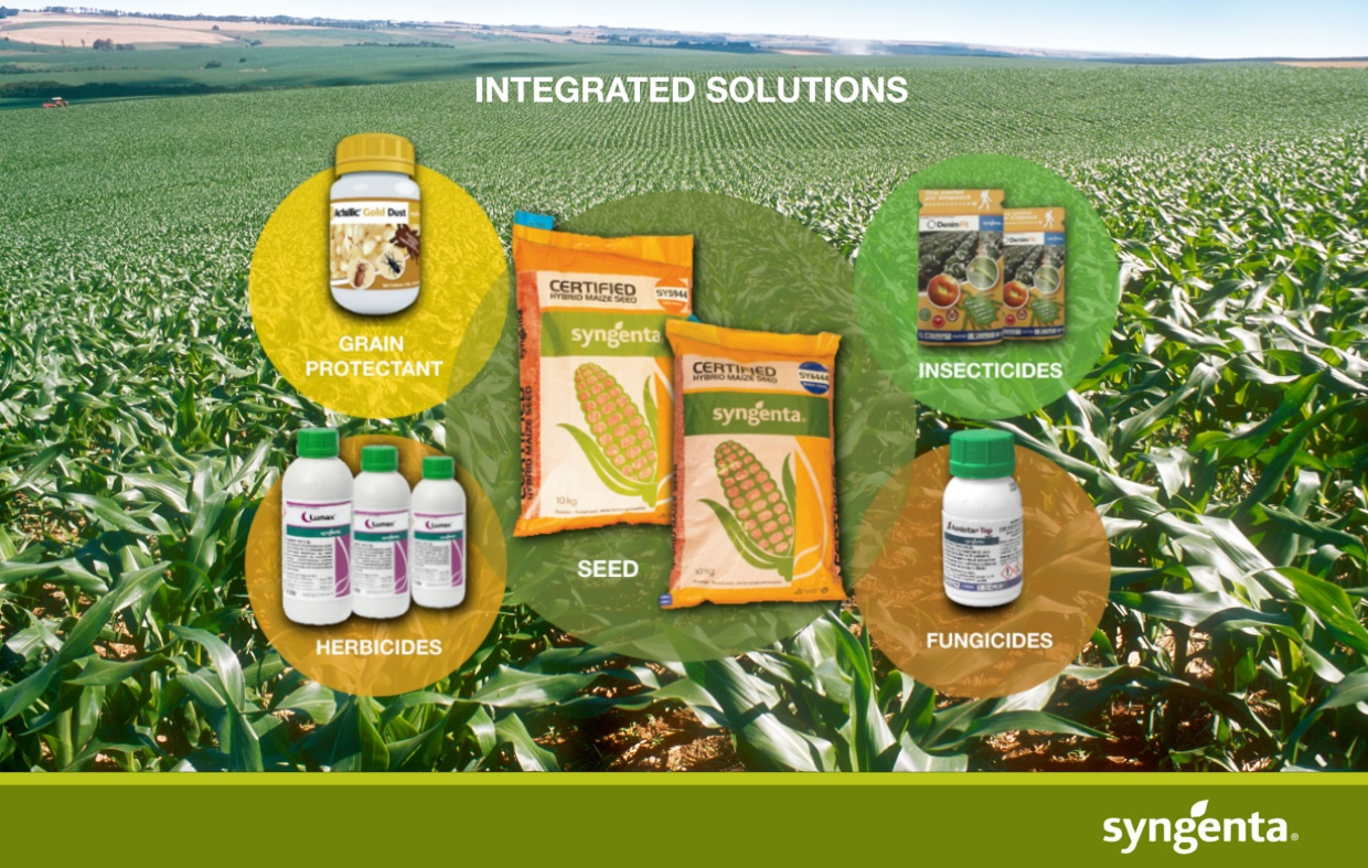 Integrated solutions featuring different products in Syngenta portfolio